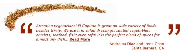 Santa Barbara Spice Company - About El Capitan Seasoning